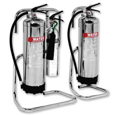 Tubular extinguisher stands